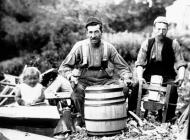 Local coopers Griffith and Thomas Thomas, with...
