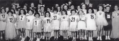 Gorseinon Carnival Fairy Queen competition, 1956.