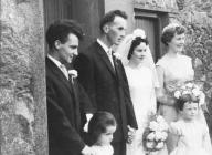 Wedding, 1950s - outside the home
