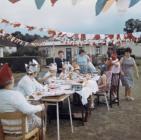 Parti stryd i ddathlu Arwisgiad 1969 yn Llandinam Crescent, Gabalfa