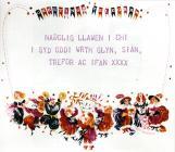 Christmas telegram in Welsh