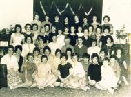 Grŵp o ferched ysgol, 1950au