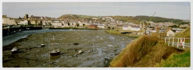 A photograph of Aberystwyth Harbour before it...