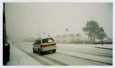 Snow in Penparcau, Aberystwyth 2004