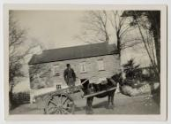 Benny Evans with horse and cart