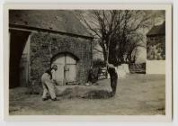 Making hay - Pengarn farm, Alltwalis