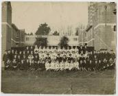 Staff of a Royal Naval hospital in Portsmouth,...