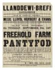 Poster for the sale of Pantyfod Farm