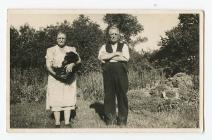 Ifan and Ann Bryn Cerdin, Capel Cynon c.1920