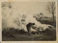Smoke screen on the Rhine River, Belgium during...