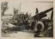 407 Battery Aberteifi in Belgium during WWII, 1944
