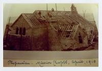 Penparcau Mission Chapel being built, April 1910