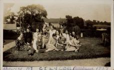 Sheep shearing at Penstacan farm, Cilycwm 1927