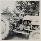 Ferguson tractor at Dolwerdd farm, Talley c.1956