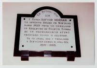 Memorial for Rev. Dafydd Morgan