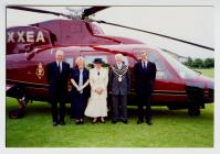 Royal Helicopter in Aberystwyth 2001