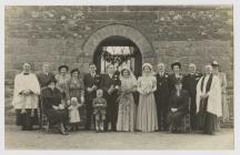 E.P. Jones and Betha Hughes' Wedding 1949