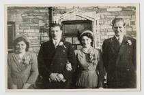 Austin Atkins and Sally Hughes' Wedding 1949