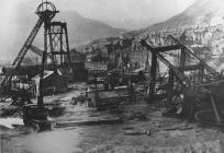 Naval Colliery, Pen-y-graig, being dismantled,...