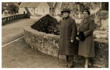 David Lloyd George with Frances at the old...