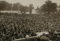 David Lloyd George addressing 40,000 miners at...