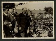David Lloyd George speaking at a...