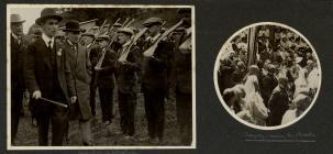 David Lloyd George inspecting volunteers during...