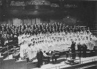 Dowlais United Choir at a concert in the Queen&...