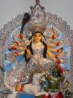The Goddess Durga ready for the Puja
