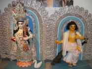 Sculptures of Sarasvati and Kartikeya
