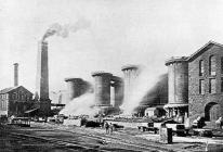 Ebbw Vale blast furnaces, about 1900