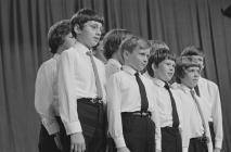 Group of boys competing, National Eisteddfod of...