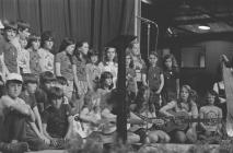 Group of children on stage, National Eisteddfod...