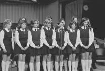 Girls group competing, National Eisteddfod of...