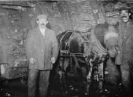 Hauling coal at Lewis Merthyr Colliery, about 1900