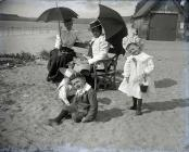 A family at Ferryside    c. 1900