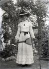 Portrait of Elizabeth Jones holding a tennis...