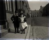 Three children in Morley Street, Carmarthen