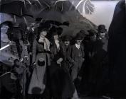 Onlookers at the opening of Dryslwyn Bridge