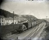 A steam train at Ferryside photographed by John...