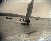 Y fferi rhwng Llansteffan a Glanyfferi tua 1905