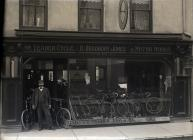 A bicycle shop in Carmarthen  c. 1900