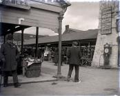 A view of Carmarthen Market.   c. 1900