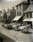 A circus parade at Carmarthen    1904