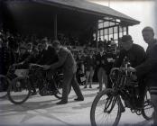The start of a motorcycle race at Carmarthen...