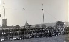 A high wire act in Carmarthen   c. 1900