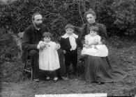 Revd J B Thomas and Mrs Thomas and family, St...