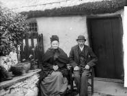 Idris Jones and his mother