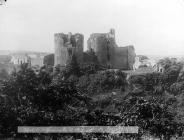 view of Cilgerran castle from the wood