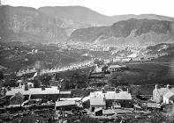view of Blaenau Ffestiniog from Graig Ddu